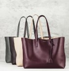 $795(Org. $995) Saint Laurent Large Smooth Leather Shopping Tote @ Saks Fifth Avenue