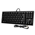 TOMOKO 87 Key Mechanical Keyboard, Water-Resistant Mechanical Gaming Keyboard with Blue Switch