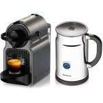 Nespresso A+C40-US-TI-NE Inissia Espresso Maker with Aeroccino Plus Milk Frother, Titan