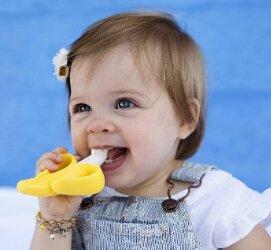 秒杀包邮到手价为¥59(原价¥79)限今日!Baby Banana 美国香蕉宝宝硅胶婴儿牙胶牙刷