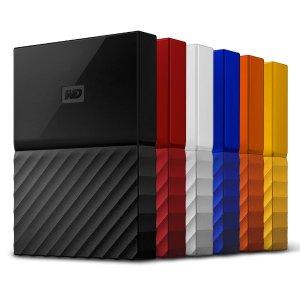 $94.99(原价$119.99)新款WD 西数 My Passport 4TB USB 3.0 移动硬盘 多色可选