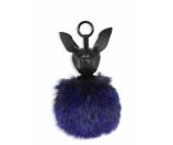 KENDALL + KYLIE - Bambi Leather & Faux Fur Pom-Pom Keychain - Saks.com