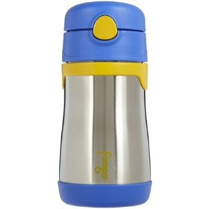 Foogo by Thermos Vacuum Insulated Stainless Steel Straw Bottle - Blue - 10 oz