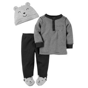 Baby Boy 3-Piece Babysoft Footed Pant Set | Carters.com