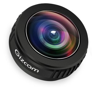 Gizcam iPhone Lens 238 Degree Super Fisheye Lens for iphone , ipad ,Samsung and Other Smartphones