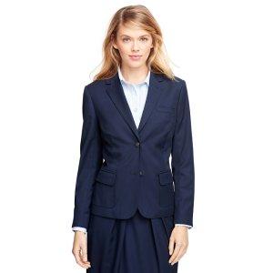 Women's Navy Blue Wool Blazer | Brooks Brothers