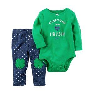 Baby Girl 2-Piece St. Patrick's Day Bodysuit Pant Set | Carters.com