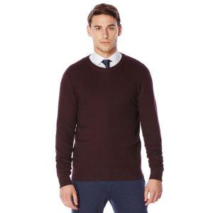 Textured Crew Neck Sweater | Perry Ellis