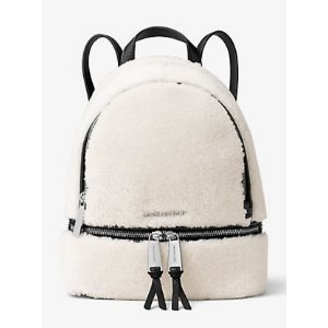 Rhea Small Shearling and Leather Backpack