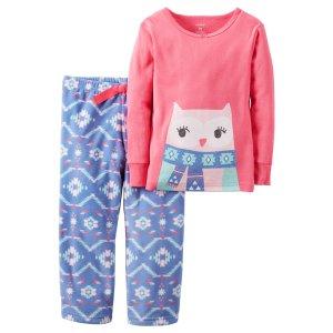 Baby Girl 2-Piece Cotton & Fleece PJs | Carters.com