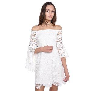 Wayf Off-Shoulder Lace Dress   South Moon Under