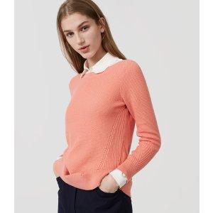 Stitchy Boatneck Sweater | LOFT