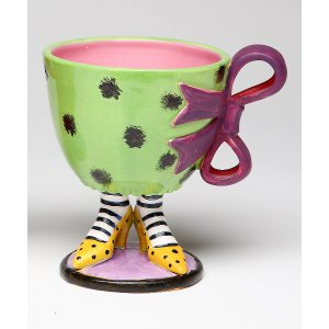 Sugar High Social Green & Purple Footed Cup | zulily
