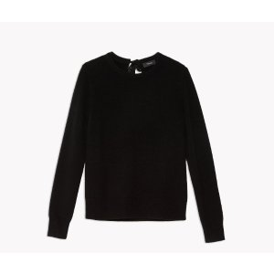 Cashmere Tie-Back Sweater