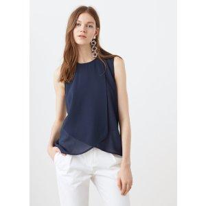 Double-layer blouse - Women | MANGO USA