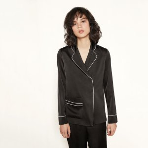 CHRISTO CHRISTO satin jacket with trims. - Tops - Maje.com