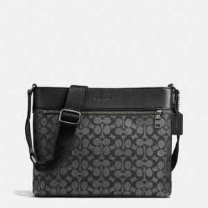 COACH Mens Messenger | Sam Crossbody In Signature Coated Canvas