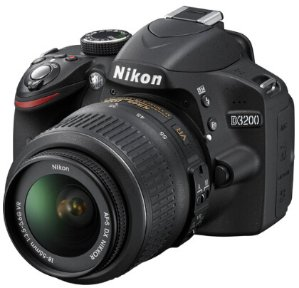 $308 Nikon D3200 24.2 MP CMOS Digital SLR Camera with 18-55mm VR Lens (Refurbished)
