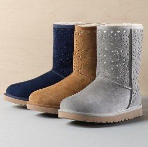 $89.99 UGG Classic Short Flora Perf Women's Boots @ Shoebuy.com