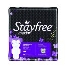 $3.12 Stayfree Maxi Pads for Women with Wings, Overnight - 28 Count