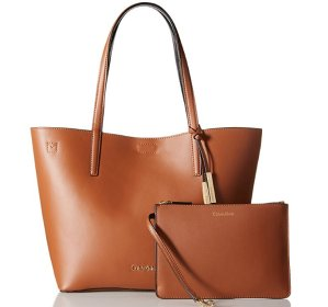 $70.17( reg $198 ) Calvin Klein Key Items Smooth Leather Tote
