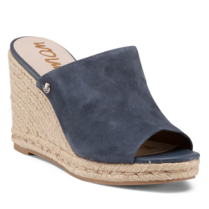 Bonnie One Band Suede Wedges