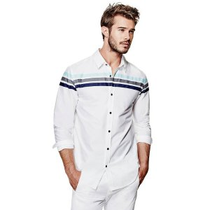 Atilius Striped Shirt | GbyGuess.com