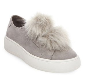 $89 STEVE MADDEN Bryanne Faux Fur Slip-On Sneakers @Lord & Taylor