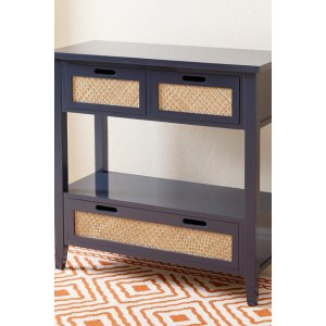 Charcoal Blue Antiqued Console Sofa Table