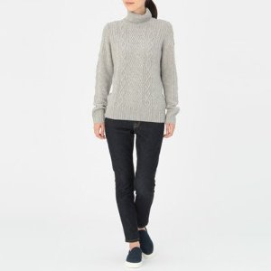 Women Less Itchiness Aran Sweater
