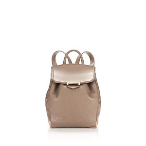 PRISMA BACKPACK IN PEBBLED LATTE WITH ROSE GOLD