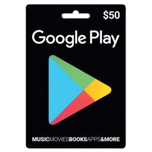 $41.99包邮$50 Google Play 礼卡