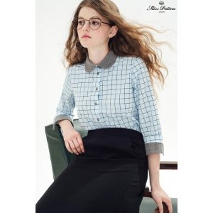 Geometry Shirt (Blue) - Miss Patina - Vintage Inspired Fashion