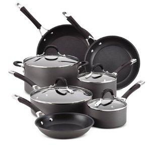 $132.49 11-Piece Circulon Hard-Anodized Momentum Cookware Set + 3-Qt Covered Saucepot