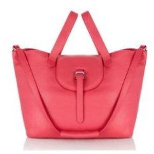 thela tote bag lipstick pink