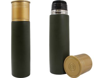 Grand Star 16.91-Oz. Shotgun Shell Insulated Beverage Container Green SM-33381