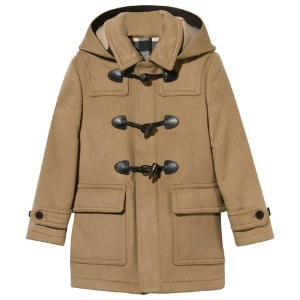 Burberry Beige Wool Duffle Coat