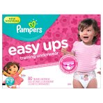 $14 Pampers Girls Easy Ups Training Underwear, 2T-3T (Size 4), 80 Count - Packaging May Vary