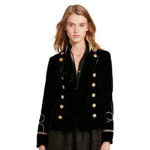 Velvet Double-Breasted Jacket - Jackets � Jackets & Vests - RalphLauren.com