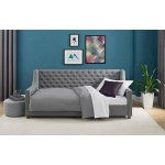 Jordyn Upholstered Daybed Twin, Grey Linen