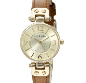 Anne Klein Women's Gold-Tone Champagne Watch