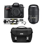 Nikon Refurbished D7200 DX 24.2MP Digital SLR Camera with 55-300mm VR Lens and Case