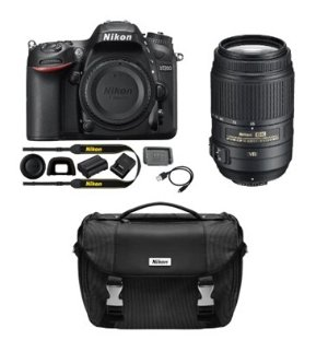 $996.95 Nikon Refurbished D7200 DX 24.2MP Digital SLR Camera with 55-300mm VR Lens and Case