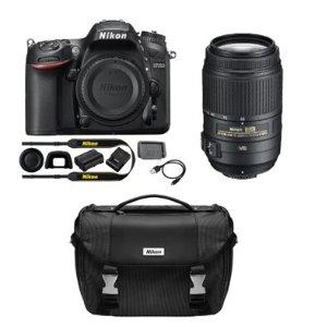 $996.95 Nikon Refurbished D7200 DX 24.2MP Digital SLR Camera with 55-300mm VR Lens and Case