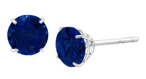 1 1/8 ct Sapphire Stud Earrings