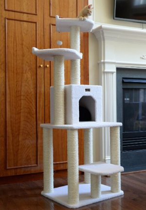 $60.99 Armarkat Cat tree Furniture Condo, Height- 60-Inch to 70-Inch