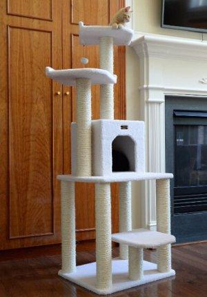 $59.99 包邮~猫主子的城堡Armarkat 猫树(高60英寸-70英寸,约152厘米)