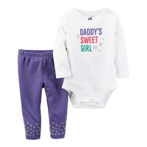 Baby Girl 2-Piece Bodysuit & Pant Set | Carters.com