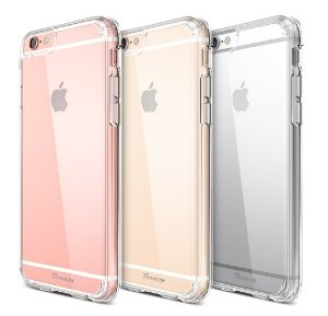 iPhone 6S Case, Trianium [Clear Cushion] Premium Clear Case Hard Back Panel + TPU Bumper for Apple iPhone 6