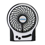 Efluky Mini USB 3 Speeds Rechargeable Portable Table Fan